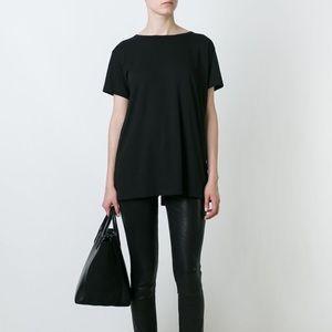 Helmut lang black open back t shirt